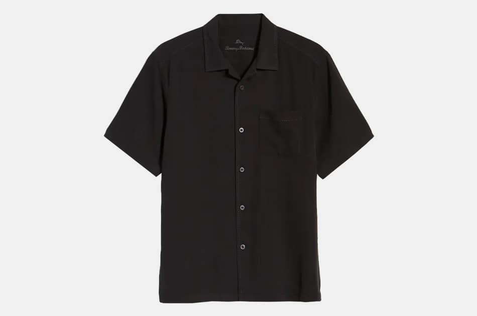 Tommy Bahama Herringbone Short Sleeve Button-Up Camp Shirt