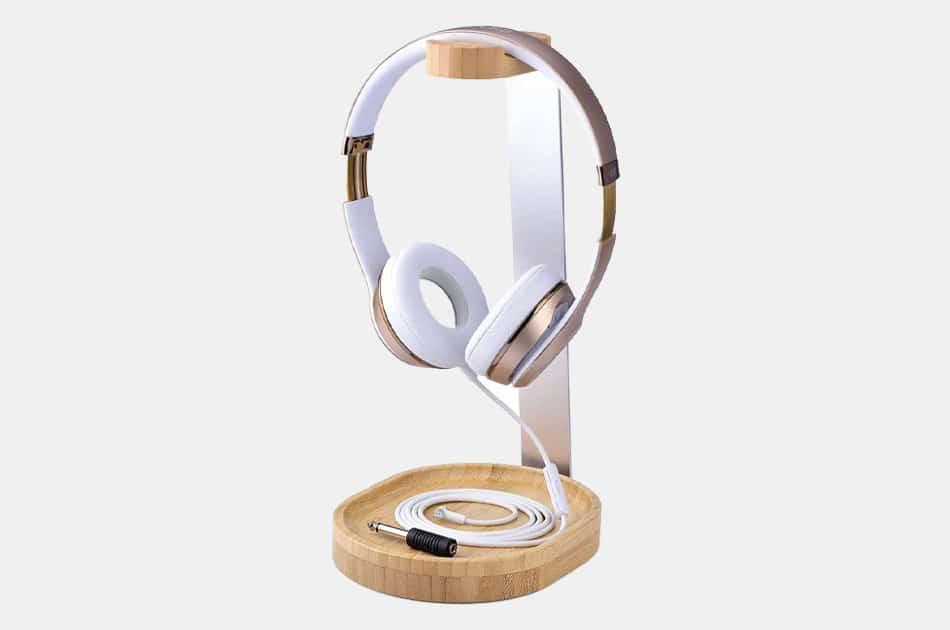 Avantree Universal Wooden Aluminum Headphone Stand Holder