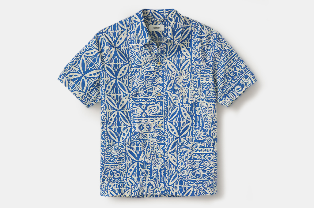 Buck Mason Drift Cotton Three Pocket Cabana Shirt
