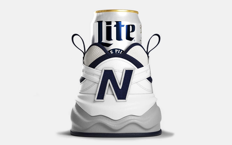 New Balance x Miller Lite Shoezie