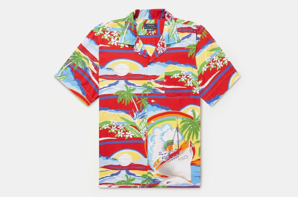 Polo Ralph Lauren Multi Convertible-Collar Printed Voile Shirt