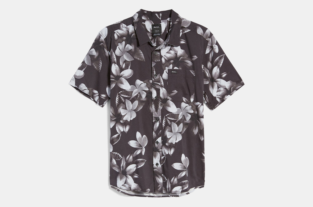 RVCA Lanai Floral Short Sleeve Button-Up Shirt
