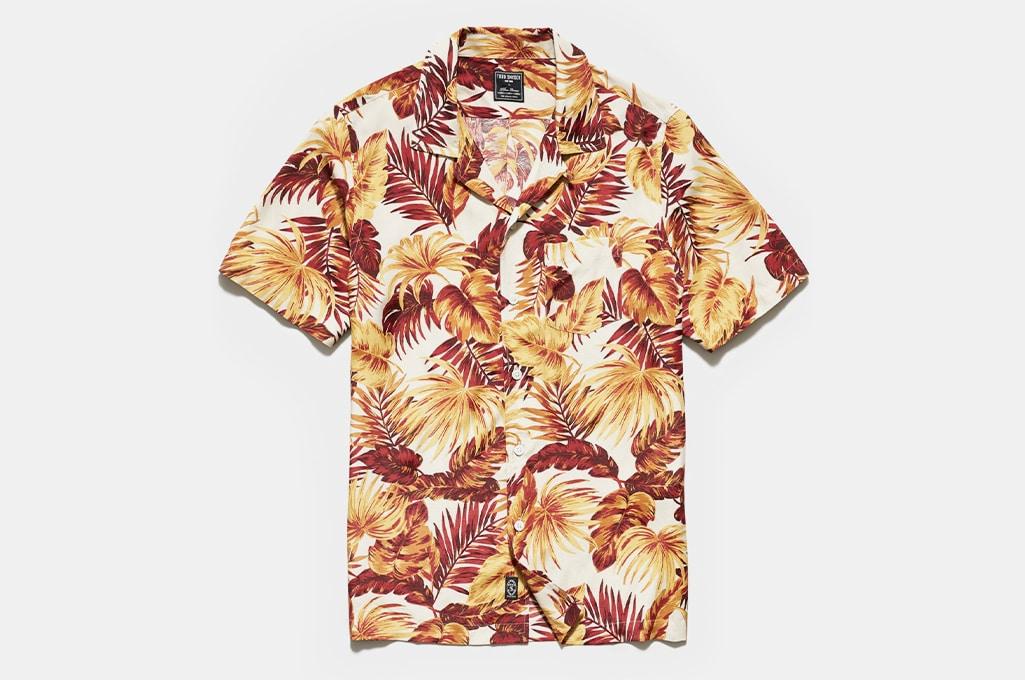 Todd Snyder Japanese Rayon Camp Collar Short Sleeve Shirt
