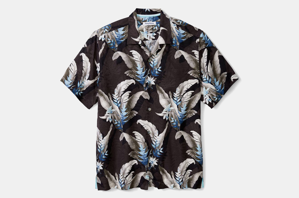 Tommy Bahama Montego Blooms Tropical Short Sleeve Silk Button-Up Shirt