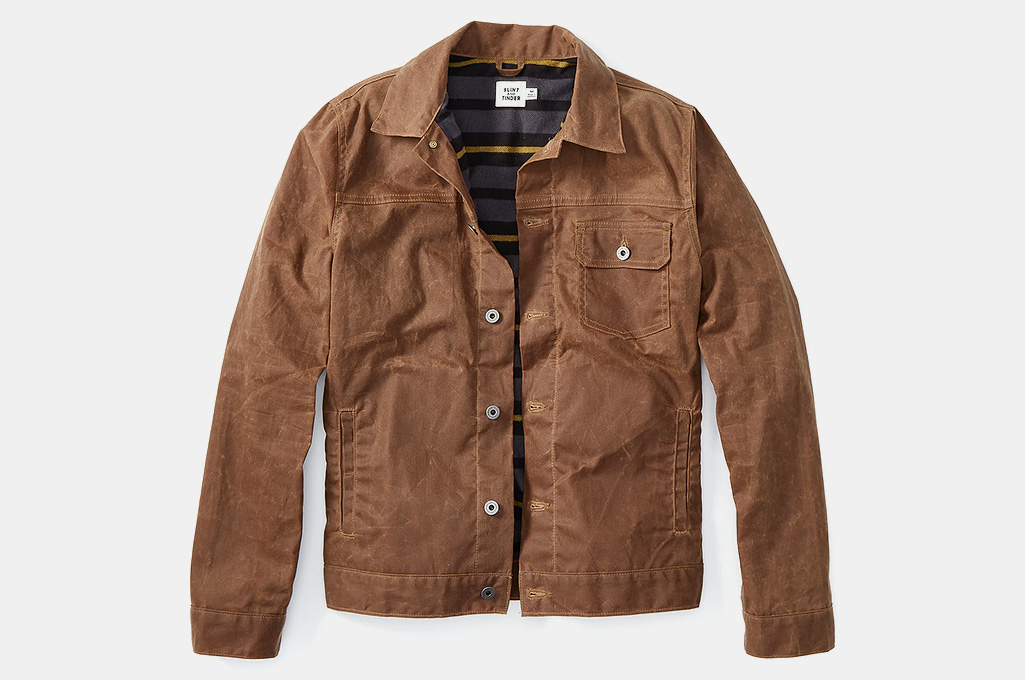 Flint and Tinder Flannel Lined Waxed Trucker Work Jacket
