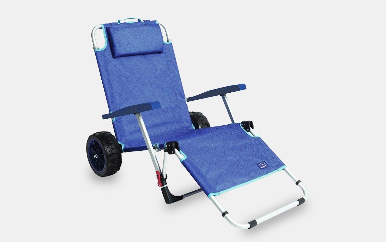 MacSports 2-in-1 Beach Cart + Lounge Chair