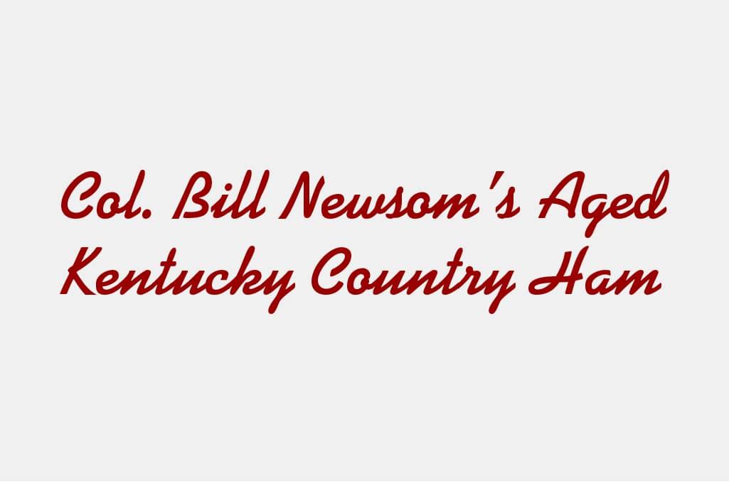 Col. Bill Newsom's Hickory Smoked Country Bacon