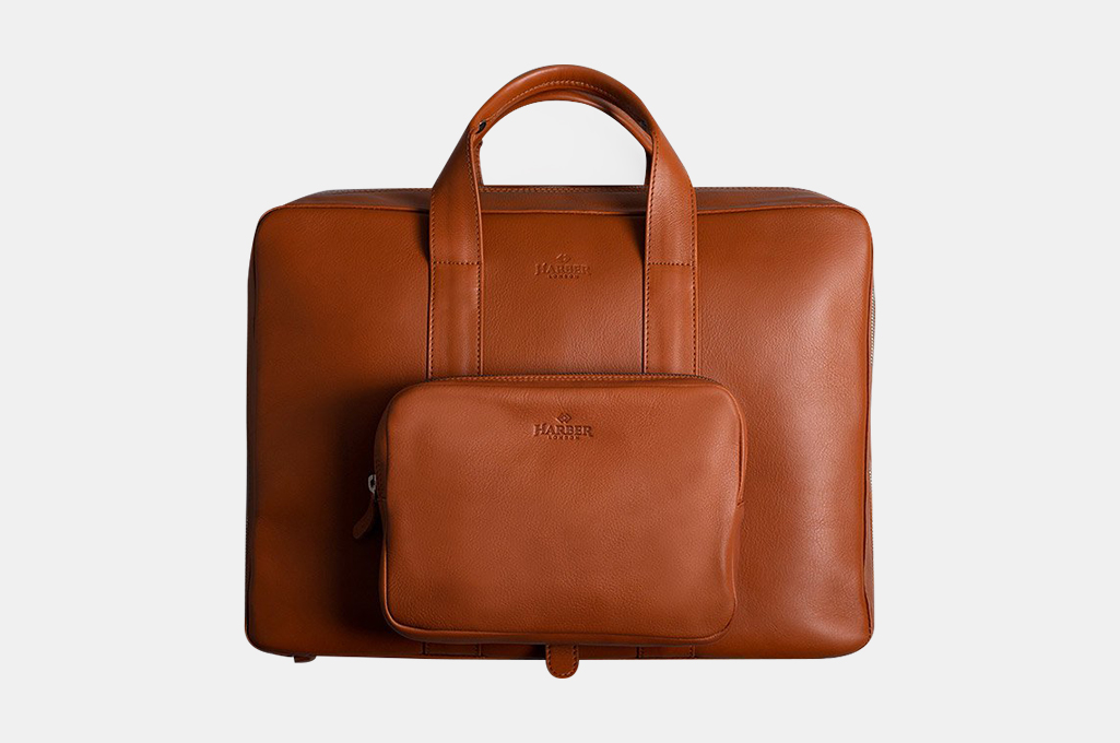 Harber London Leather Work Briefcase