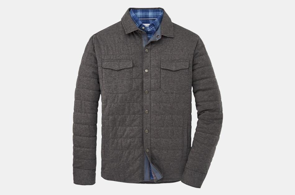 Peter Millar Cotton Cashmere Knit Shirt Jacket